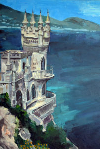 My painting after swallow's nest in Crimea