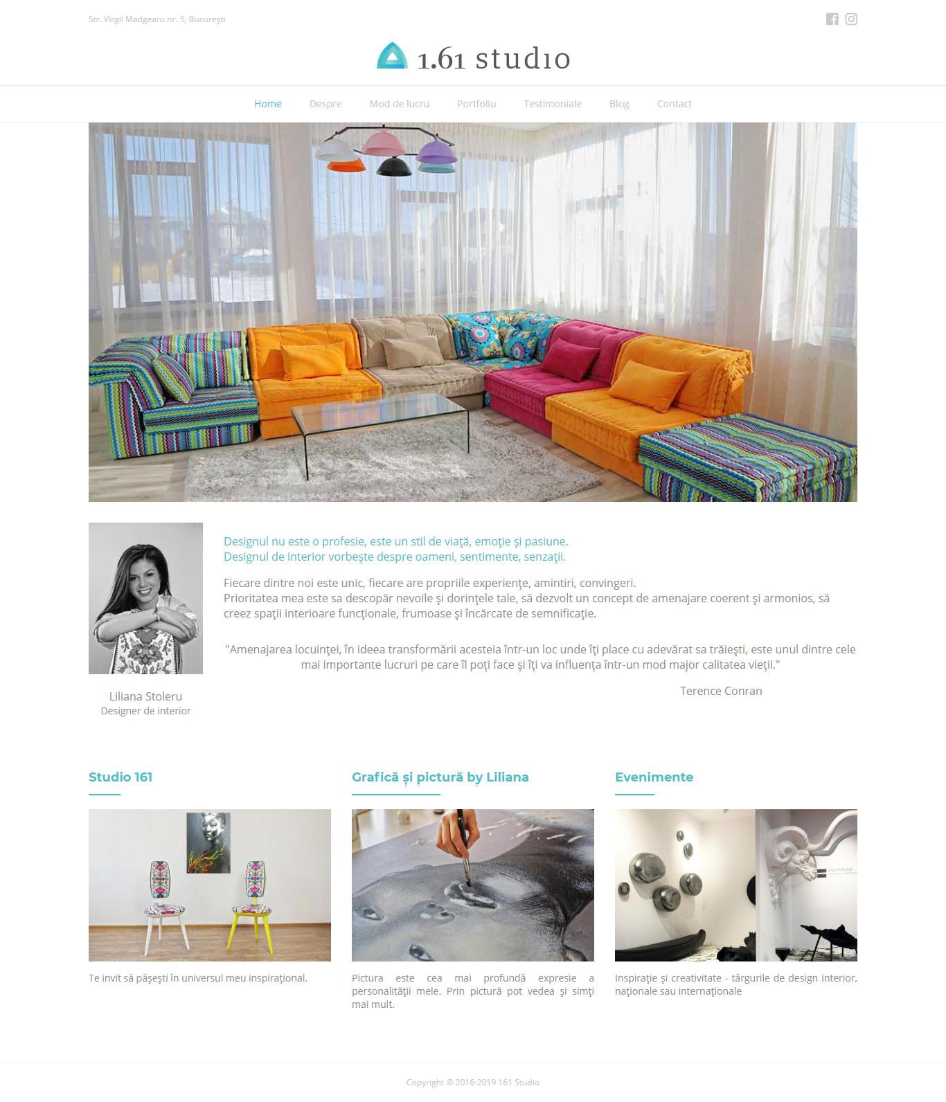 161 Studio website