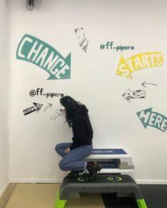 Liliana Stoleru Instagrammable wall