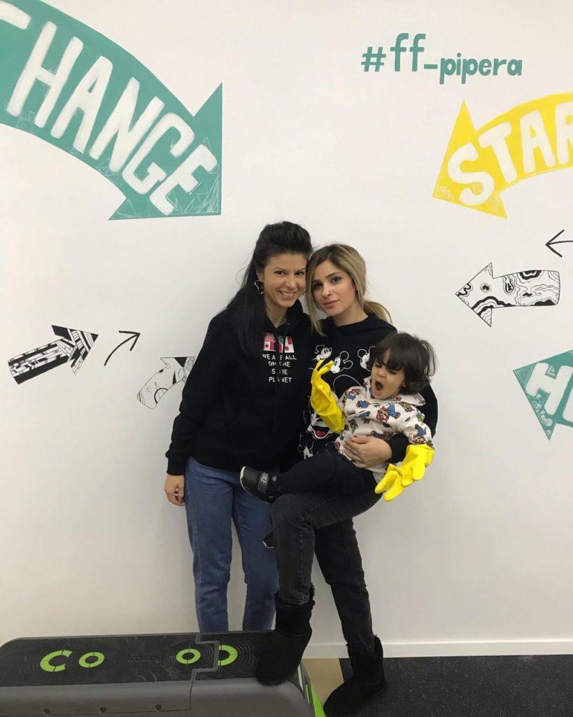 Melika Monjazi, Liliana Stoleru & little Mario