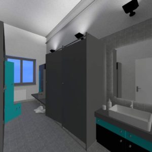 Changing room - 3d Rendering by 1.61Studio