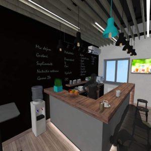 Bar view - 3d Rendering by 1.61Studio