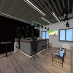 Bar view - 3d Rendering by 1.61Studio