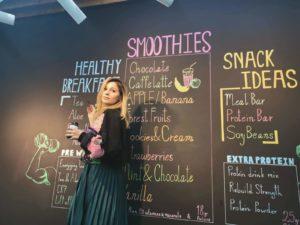 Melika Monjazi, chalk wall