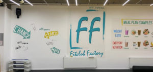 Instagrammable wall of fitclub factory