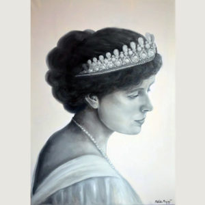 Portrait of Queen Marie of Romania painted by Melika Monjazi