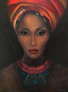 African woman with Turban