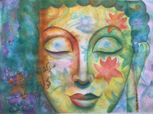 The third eye watercolor painting by Melika Monjazi