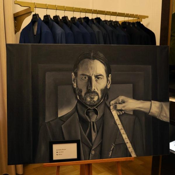John wick's suit by Melika Monjazi