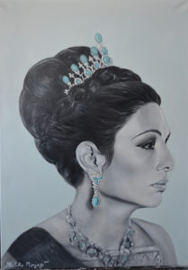 Queen Farah painting by Melika Monjazi