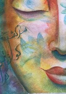Buddha painting by Melika Monjazi
