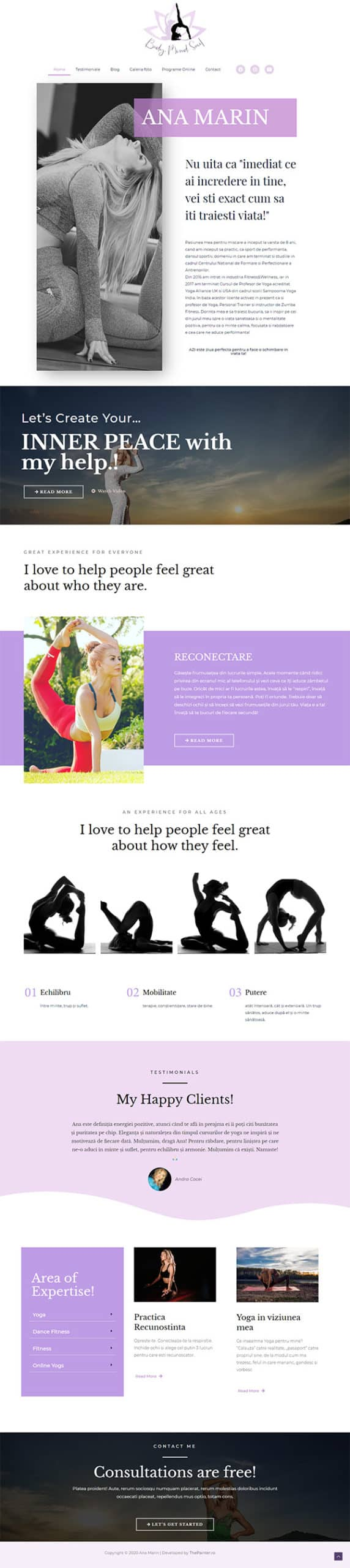 Yoga with Ana website