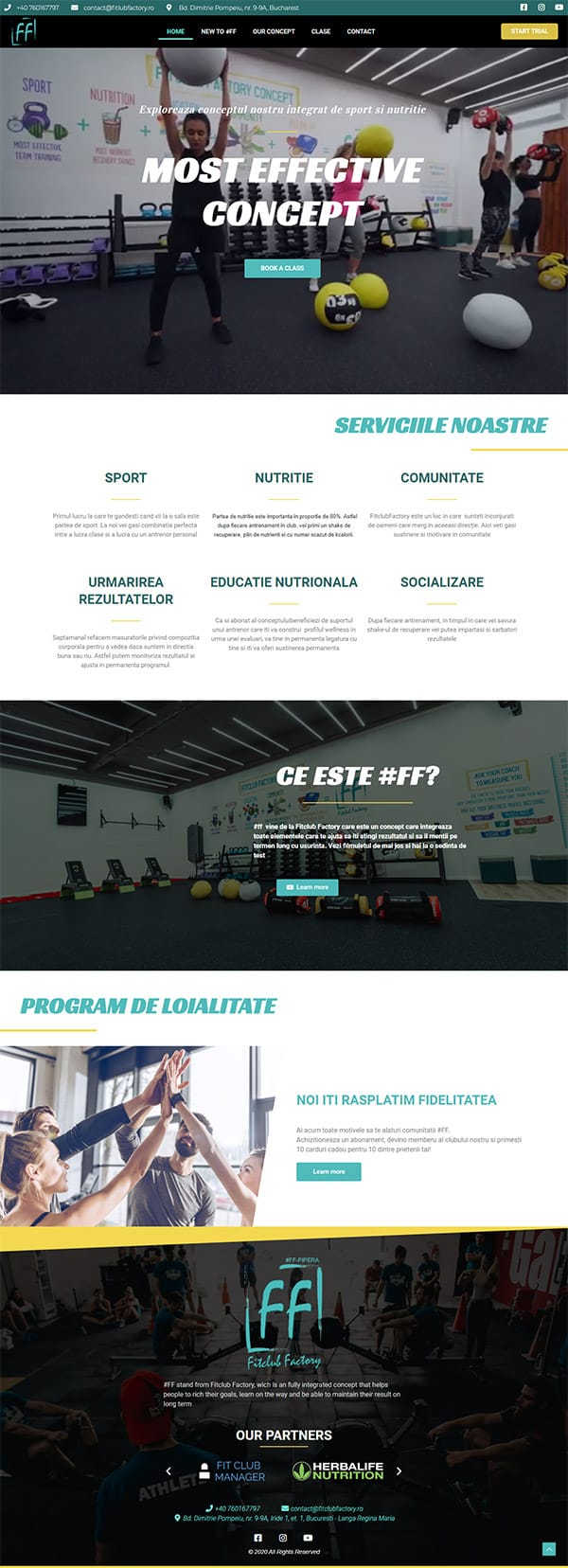FitClub Factory website